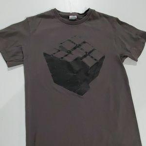 Delta Shirts - Rubix Cube Grey men's small tshirt